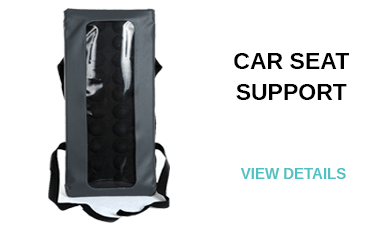 Car seat support for back pain treatment