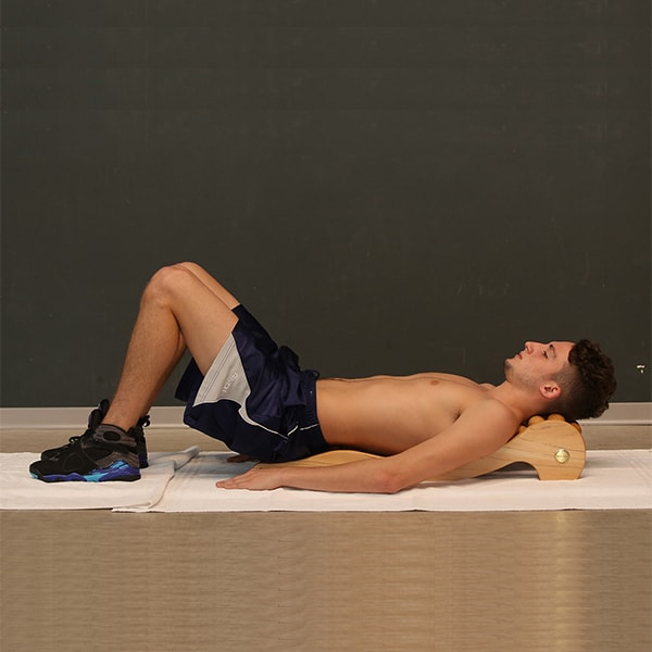 Lumbar pain exercise starting position