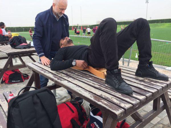 UAE rugby team using backrack