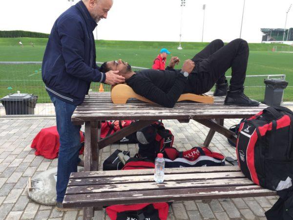 UAE rugby player on backrack
