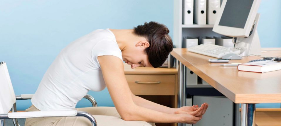 Lower back pain at office