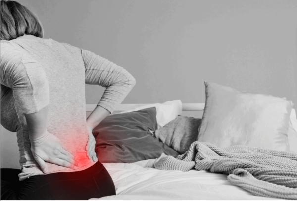 Lower back pain patient
