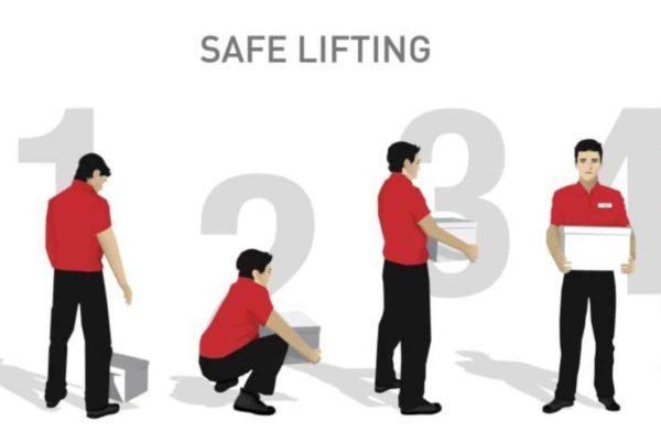 Steps for safe lifting.