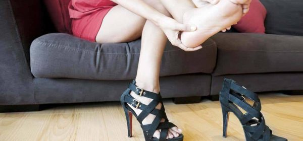 High heels causes back pain.
