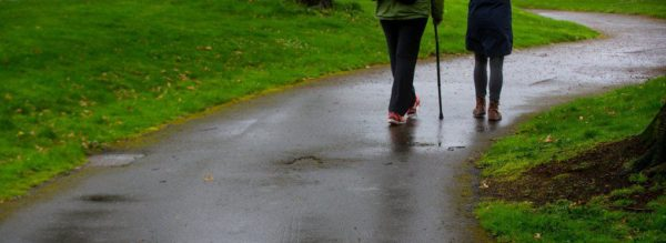 walking relieves lower back pain.